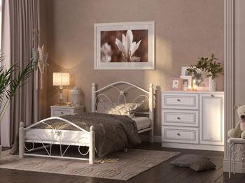 Кровать Бангкок белый белый купить в Красноярске